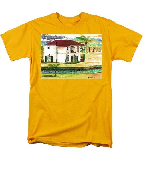Men's T-Shirt  (Regular Fit) featuring the painting  Fort Lauderdale Waterway by Bernadette Krupa