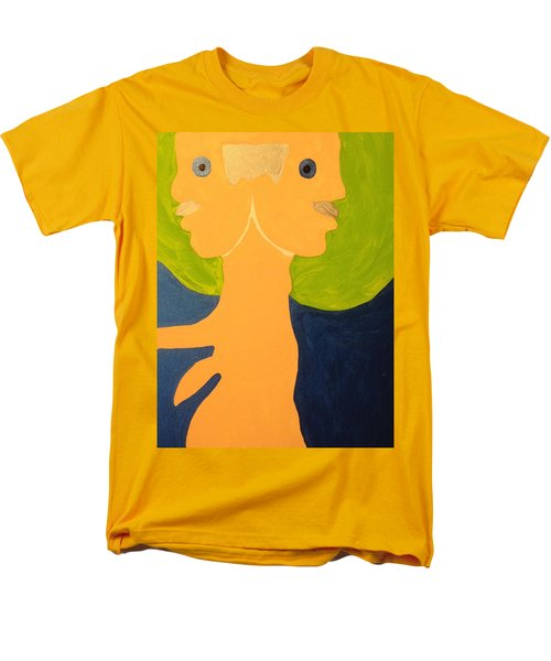 Men's T-Shirt  (Regular Fit) featuring the painting 2faced by Erika Chamberlin