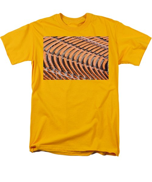 Abstract Pattern - Rows Of The Stadium's Seats Men's T-Shirt  (Regular Fit)