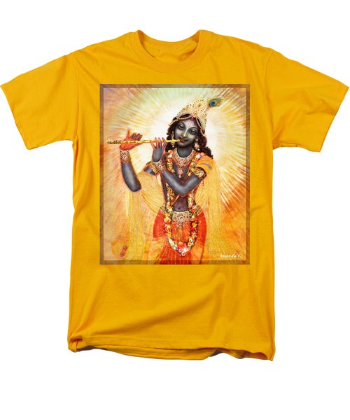 Krishna With The Flute Men's T-Shirt  (Regular Fit) by Ananda Vdovic