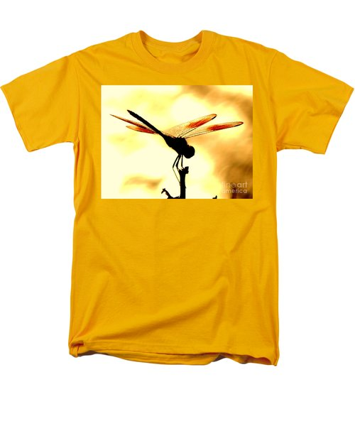The Light Of Flight Upon The Mosquito Hawk At The Mississippi River In New Orleans Louisiana Men's T-Shirt  (Regular Fit) by Michael Hoard