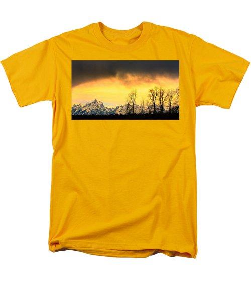 Men's T-Shirt  (Regular Fit) featuring the photograph Grand Tetons Wyoming by Amanda Stadther