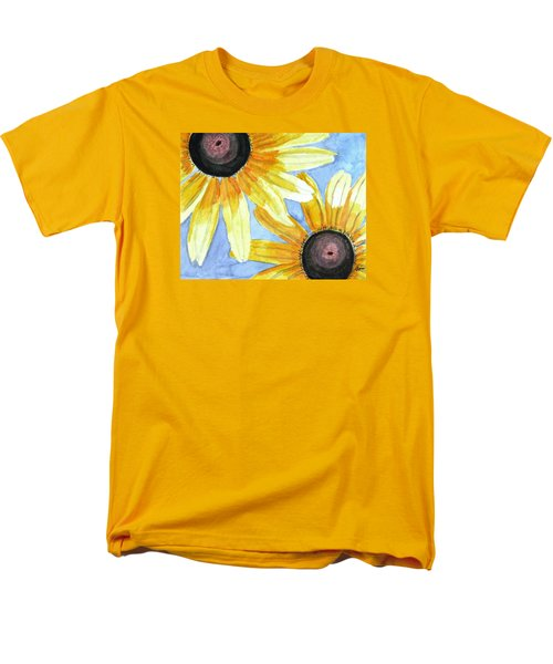 Men's T-Shirt  (Regular Fit) featuring the painting Summer Susans by Angela Davies