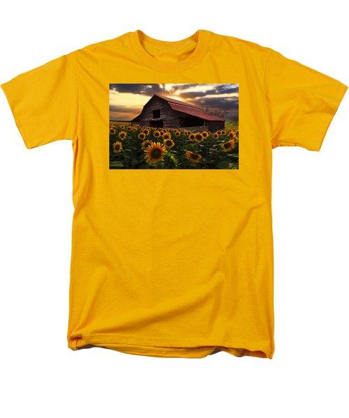 Sunflower Farm Men's T-Shirt  (Regular Fit) by Debra and Dave Vanderlaan