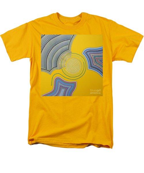 Men's T-Shirt  (Regular Fit) featuring the painting Aboriginal Inspirations 35 by Mariusz Czajkowski