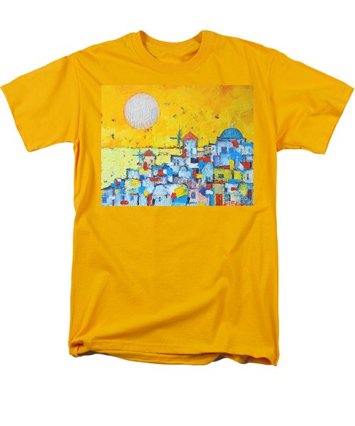 Abstract Santorini - Oia Before Sunset Men's T-Shirt  (Regular Fit) by Ana Maria Edulescu