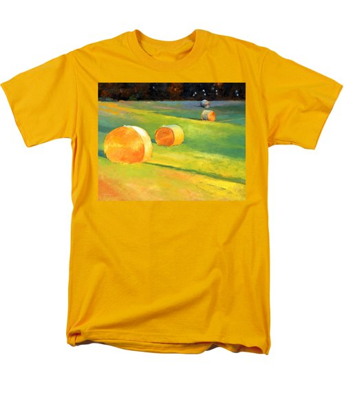 Advance Mills Hall Bales Men's T-Shirt  (Regular Fit) by Catherine Twomey