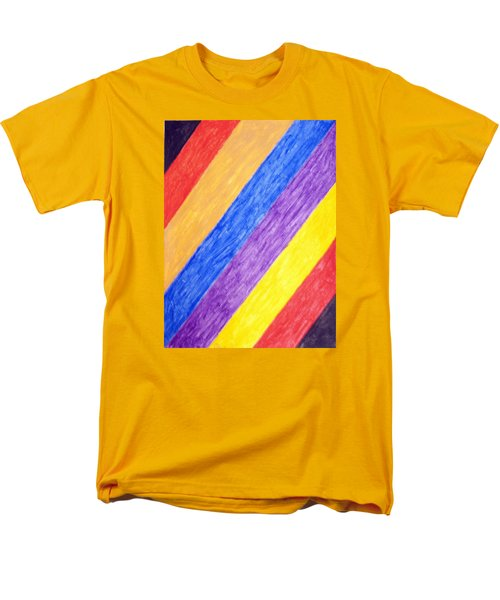 Men's T-Shirt  (Regular Fit) featuring the painting Angles by Stormm Bradshaw