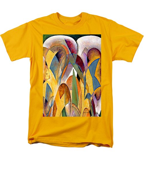 Men's T-Shirt  (Regular Fit) featuring the mixed media Arches by Rafael Salazar