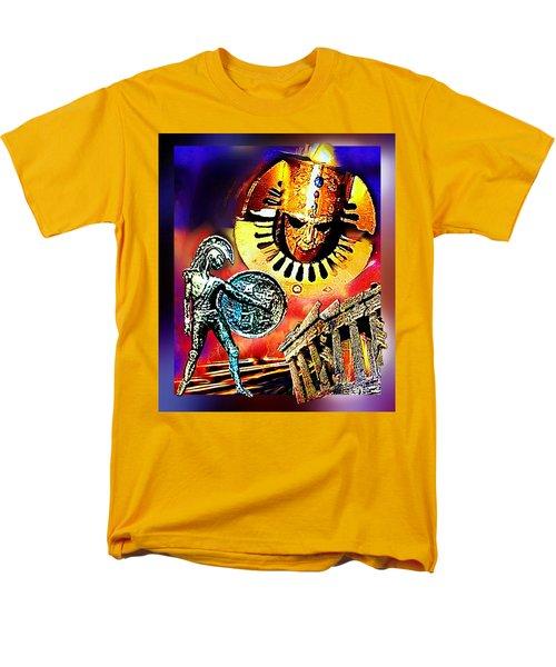 Men's T-Shirt  (Regular Fit) featuring the mixed media Atlantis - The Minoan Empire Has Fallen by Hartmut Jager
