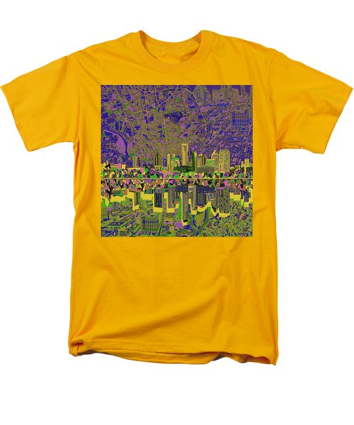 Austin Texas Skyline Men's T-Shirt  (Regular Fit) by Bekim Art