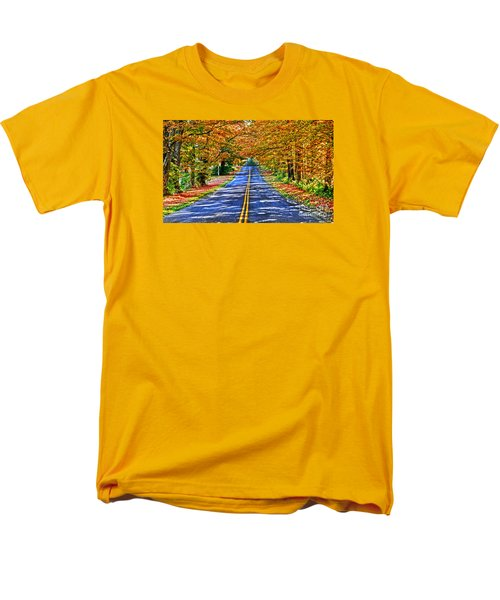 Autumn Road Oneida County Ny Men's T-Shirt  (Regular Fit) by Diane E Berry