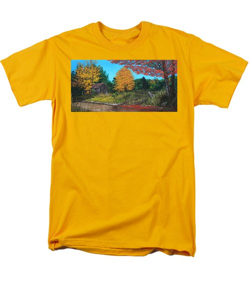 Autumns Rustic Path Men's T-Shirt  (Regular Fit) by Wendy Shoults
