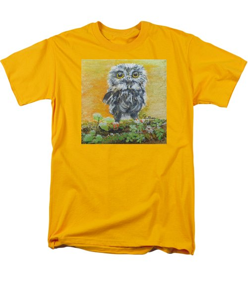 Baby Owl Men's T-Shirt  (Regular Fit) by Christine Lathrop