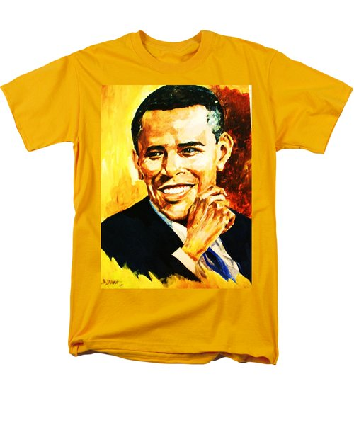 Men's T-Shirt  (Regular Fit) featuring the painting Barack Obama by Al Brown