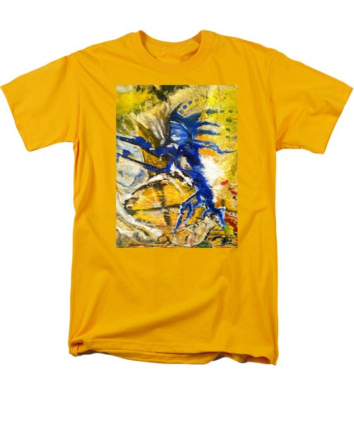 Men's T-Shirt  (Regular Fit) featuring the painting Beyond Boundaries by Kicking Bear  Productions