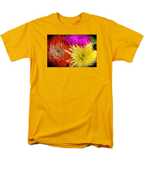 Bright Chrysanthemums Men's T-Shirt  (Regular Fit) by The Art of Alice Terrill
