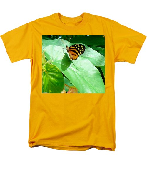 Men's T-Shirt  (Regular Fit) featuring the photograph Butterfly Chasing Shadow by Janette Boyd