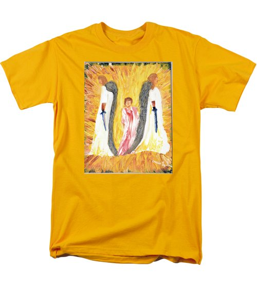 Men's T-Shirt  (Regular Fit) featuring the painting Child Being Escorted Into Heaven by Cassie Sears