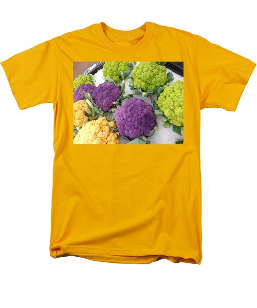 Men's T-Shirt  (Regular Fit) featuring the photograph Colorful Cauliflower by Caryl J Bohn