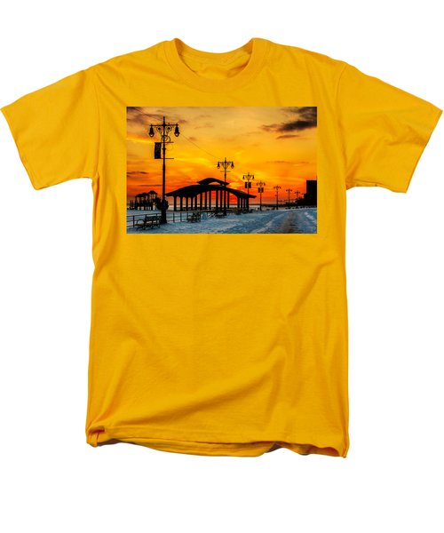 Coney Island Winter Sunset Men's T-Shirt  (Regular Fit) by Chris Lord