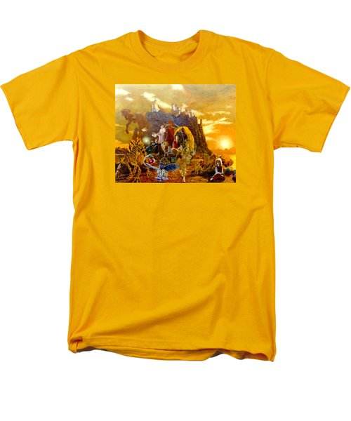 Men's T-Shirt  (Regular Fit) featuring the painting Constructors Of Time by Henryk Gorecki