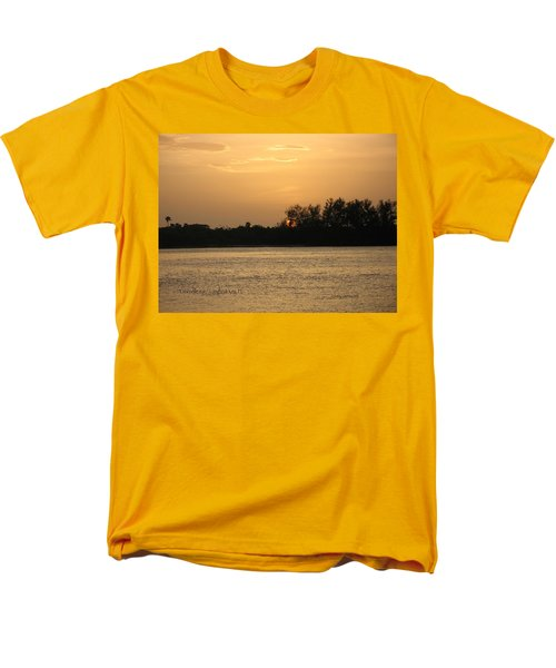 Men's T-Shirt  (Regular Fit) featuring the photograph Crocodile Eye by Kathy Barney