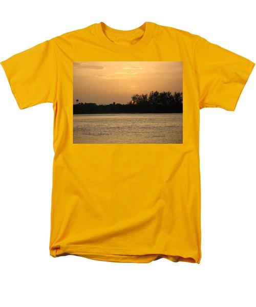 Crocodile Eye Men's T-Shirt  (Regular Fit) by Kathy Barney