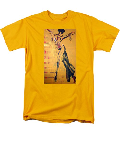 Men's T-Shirt  (Regular Fit) featuring the painting Cuba Rhythm by Jarmo Korhonen aka Jarko