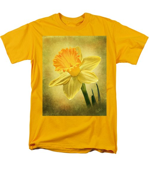 Men's T-Shirt  (Regular Fit) featuring the photograph Daffodil by Ann Lauwers