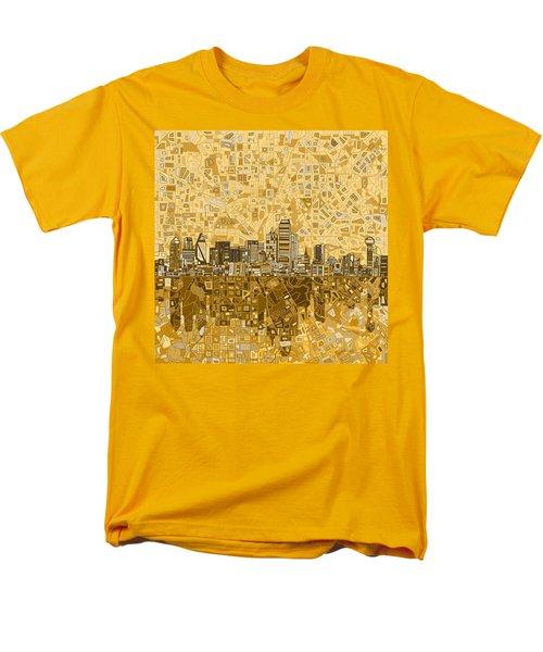Dallas Skyline Abstract 6 Men's T-Shirt  (Regular Fit) by Bekim Art