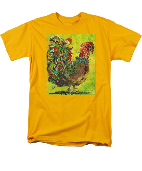 Men's T-Shirt  (Regular Fit) featuring the painting De Colores Rooster #2 by Eloise Schneider