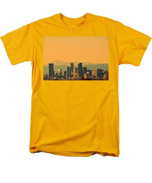 Denver Skyline Men's T-Shirt  (Regular Fit) by Colleen Coccia