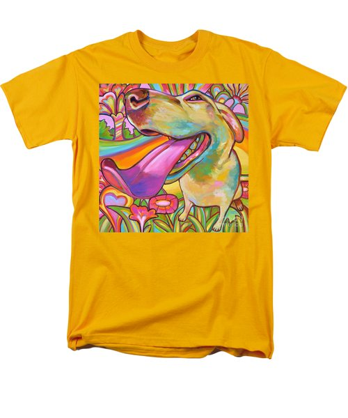 Men's T-Shirt  (Regular Fit) featuring the painting Dog Daze Of Summer by Robert Phelps