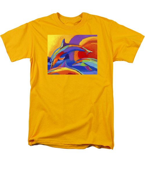 Dolphin Dance Men's T-Shirt  (Regular Fit) by Stephen Anderson