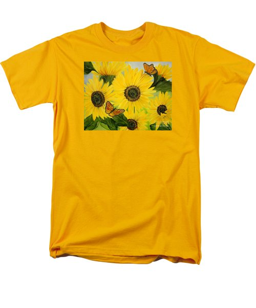 Men's T-Shirt  (Regular Fit) featuring the painting Dreaming Of Summer by Carol Sweetwood