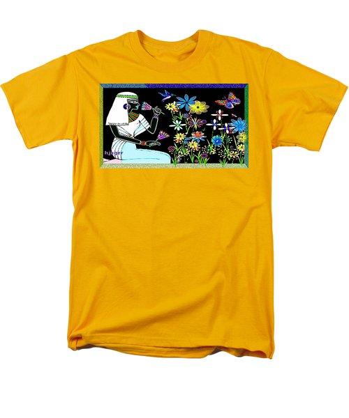 Men's T-Shirt  (Regular Fit) featuring the digital art Egyptian Flower  Garden by Hartmut Jager