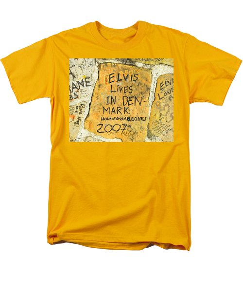 Men's T-Shirt  (Regular Fit) featuring the photograph Elvis Lives In Denmark by Lizi Beard-Ward