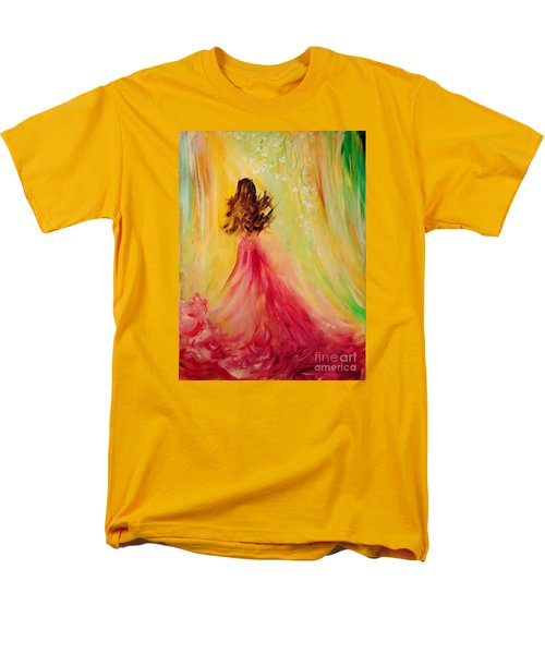 Men's T-Shirt  (Regular Fit) featuring the painting Expecting by Teresa Wegrzyn
