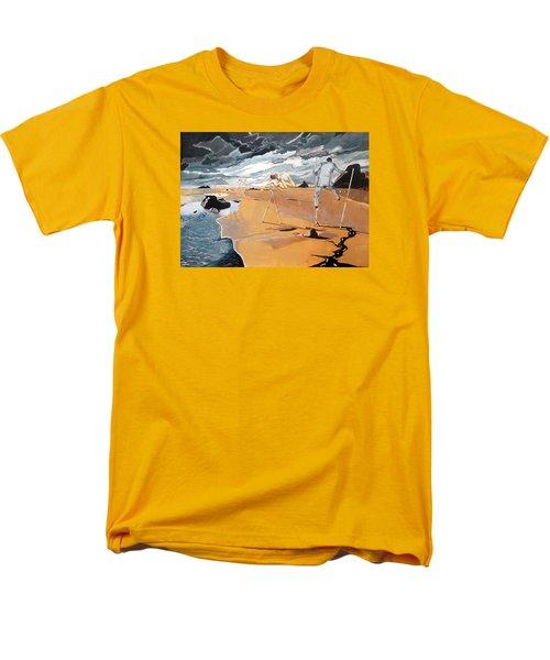 Men's T-Shirt  (Regular Fit) featuring the painting Faraway Lejanias by Lazaro Hurtado