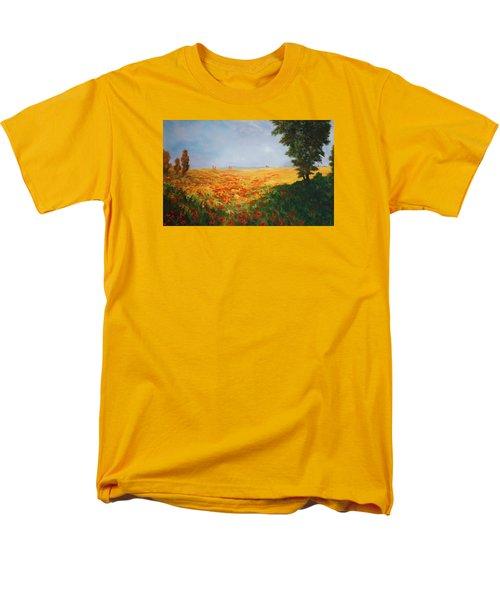 Field Of Poppies Men's T-Shirt  (Regular Fit) by Jean Walker