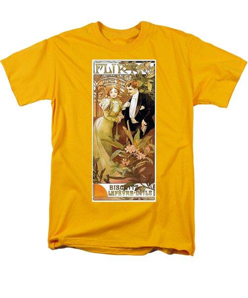 Flirt Men's T-Shirt  (Regular Fit) by Alphonse Mucha