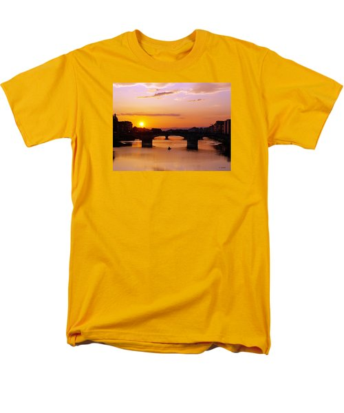 Men's T-Shirt  (Regular Fit) featuring the photograph Florence Sunset  by Haleh Mahbod