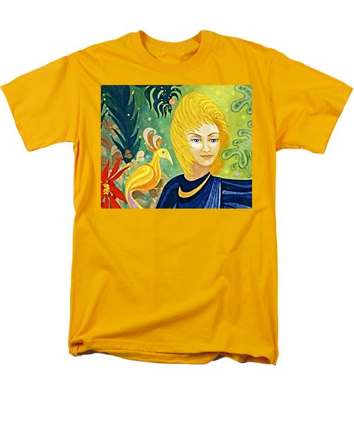 Men's T-Shirt  (Regular Fit) featuring the painting Gaia - Spirit Of Nature by Hartmut Jager