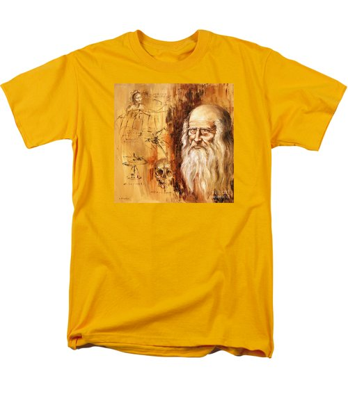 Genius   Leonardo Da Vinci Men's T-Shirt  (Regular Fit) by Arturas Slapsys