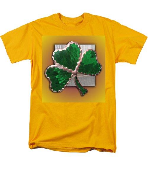 Men's T-Shirt  (Regular Fit) featuring the photograph Glass Shamrock by Barbara McDevitt