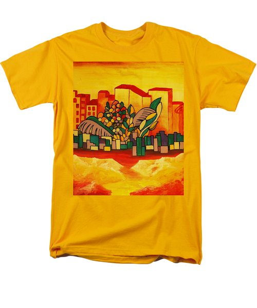 Men's T-Shirt  (Regular Fit) featuring the painting Global Warning by Barbara St Jean