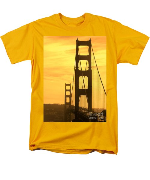 Men's T-Shirt  (Regular Fit) featuring the photograph Golden Gate Bridge  by Clare Bevan