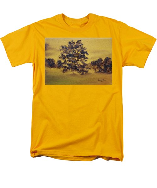 Men's T-Shirt  (Regular Fit) featuring the painting Golden Landscape by Judith Rhue