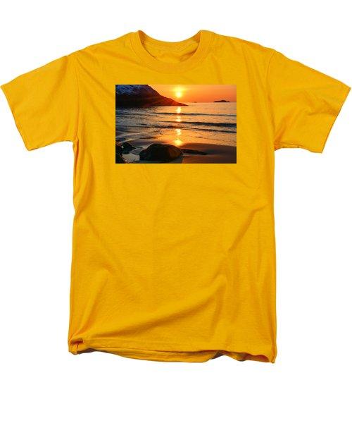 Golden Morning Singing Beach Men's T-Shirt  (Regular Fit) by Michael Hubley